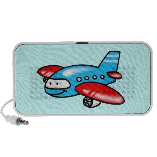 cartoon airplane travel speaker