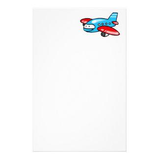 cartoon airplane stationery design