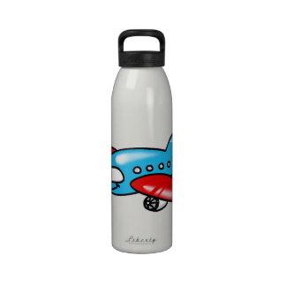 cartoon airplane water bottles