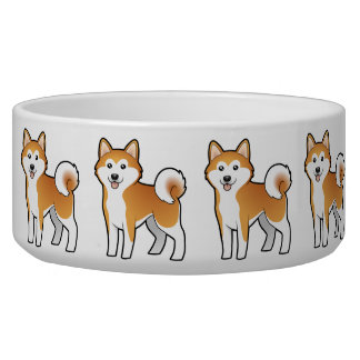 Cartoon Akita Inu / Shiba Inu Pet Bowls