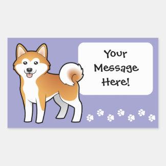 Cartoon Akita Inu / Shiba Inu Rectangular Sticker