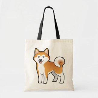 Cartoon Akita Inu / Shiba Inu Tote Bag