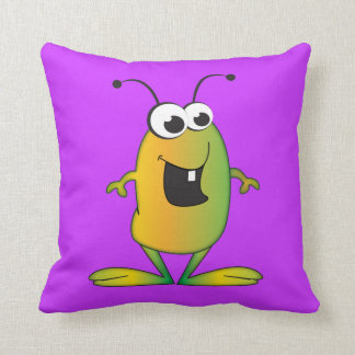 Cartoon Alien Pillow