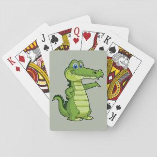 Cartoon Alligator Background Poker Deck
