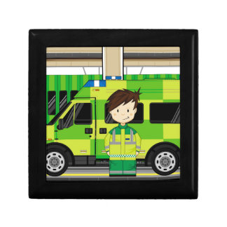 Cartoon Ambulance and EMT Gift Box