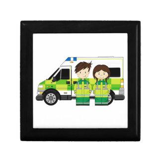 Cartoon Ambulance and EMT's Gift Box