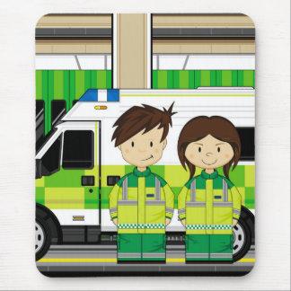 Cartoon Ambulance and EMT's Mouse Pad