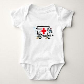 Cartoon Ambulance Baby Bodysuit