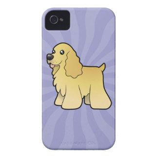 Cartoon American Cocker Spaniel iPhone 4 Case-Mate Case