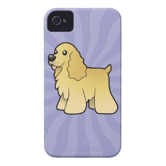 Cartoon American Cocker Spaniel iPhone 4 Cases