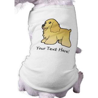 Cartoon American Cocker Spaniel Sleeveless Dog Shirt
