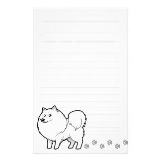 Cartoon American Eskimo Dog / German Spitz Custom Stationery
