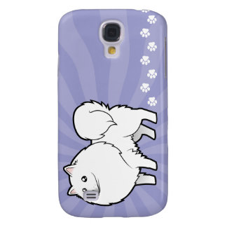 Cartoon American Eskimo Dog / German Spitz Galaxy S4 Case