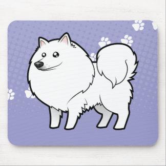 Cartoon American Eskimo Dog / German Spitz Mouse Pad