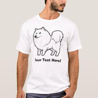 Cartoon American Eskimo Dog / German Spitz T-Shirt