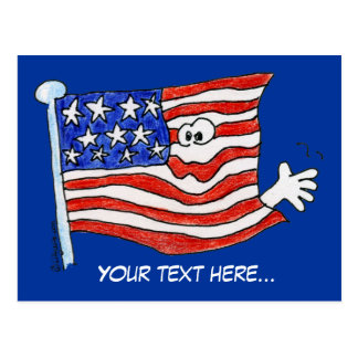 Cartoon American Flag Postcards