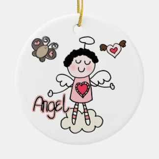 Cartoon Angel Round Ceramic Decoration