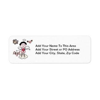 Cartoon Angel Return Address Label
