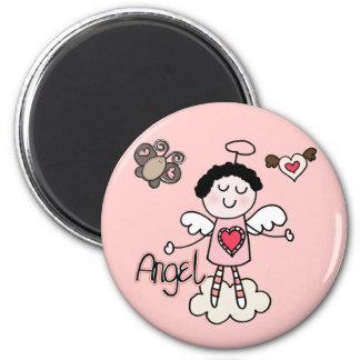 Cartoon Angel 6 Cm Round Magnet