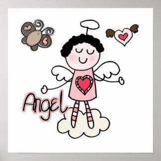 Cartoon Angel Print