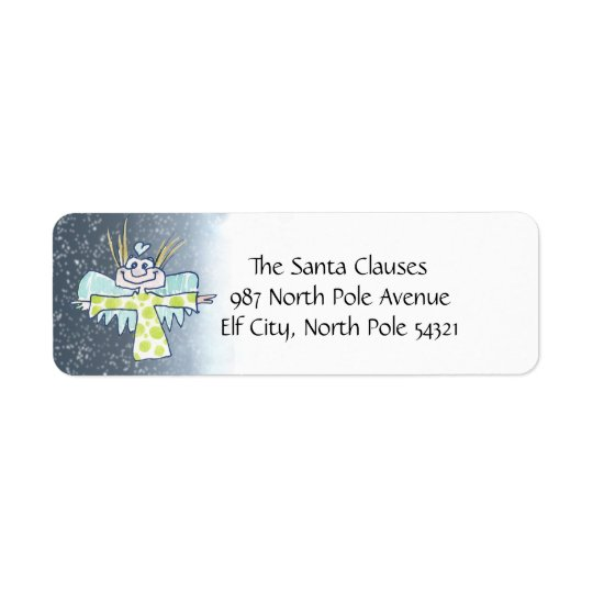 Cartoon Angel Return Address Label