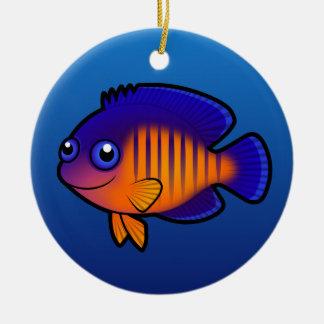 Cartoon Angelfish 1 Christmas Ornaments