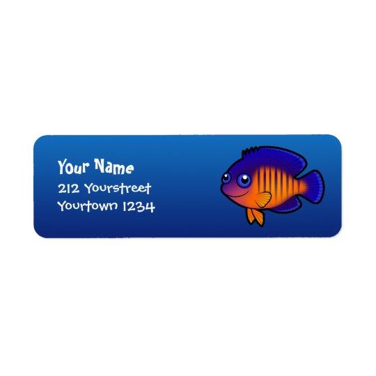 Cartoon Angelfish 1 Return Address Label