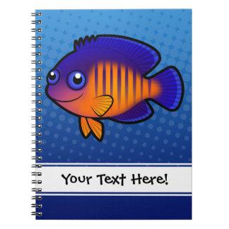 Cartoon Angelfish 1 Spiral Notebooks