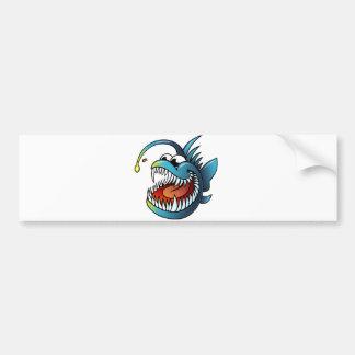 Cartoon Angler Fish Bumper Sticker