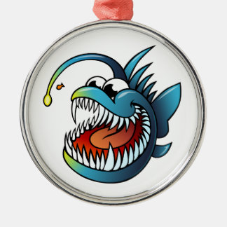 Cartoon Angler Fish Christmas Ornament