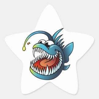 Cartoon Angler Fish Stickers