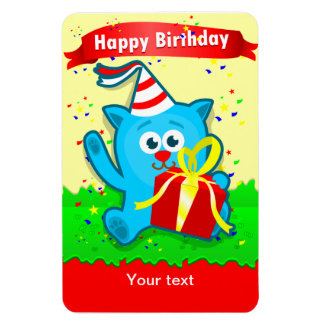 """Cartoon Animal"" Child's Birthday Flexi Magnet"