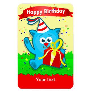 """Cartoon Animal"" Child's Birthday Flexi Magnet"