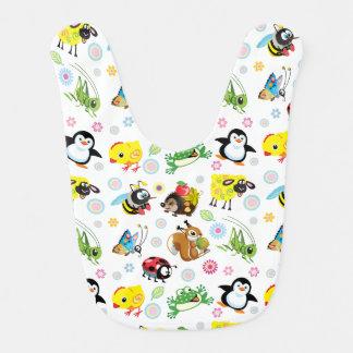 cartoon animals for kids baby bibs