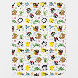 cartoon animals for kids buggy blanket