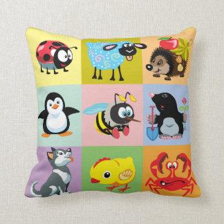 cartoon animals for kids cushion