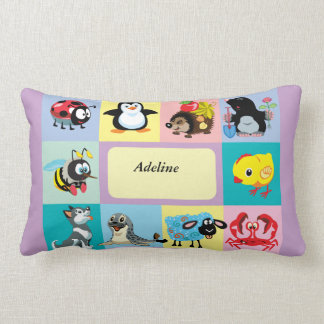 cartoon animals for kids lumbar cushion
