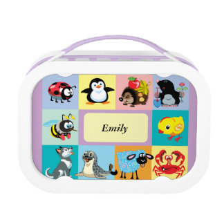 cartoon animals for kids lunch box