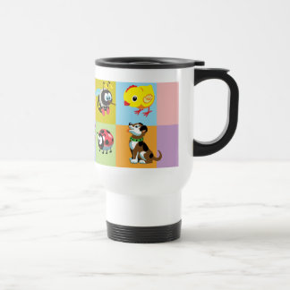 cartoon animals for kids travel mug