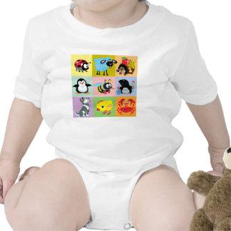 cartoon animals for kids baby bodysuit