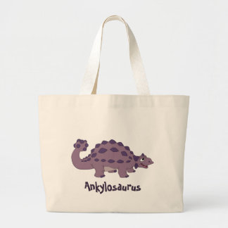 Cartoon Ankylosaurus Jumbo Tote Bag