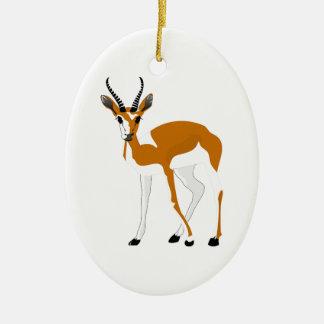 Cartoon Antelope Christmas Ornament