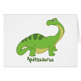 Cartoon Apatosaurus Greeting Card