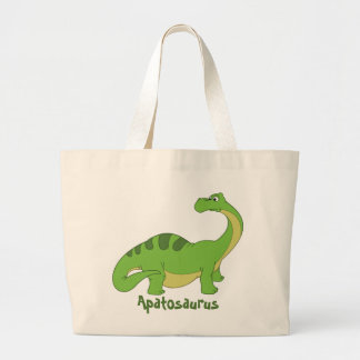Cartoon Apatosaurus Jumbo Tote Bag