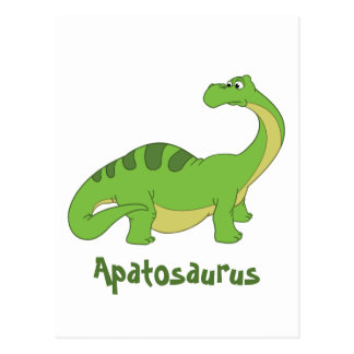 Cartoon Apatosaurus Postcard
