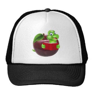 Cartoon Apple Bookworm Cap