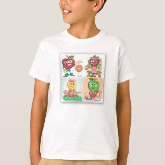 Cartoon Apple Fruity Friends Tshirt