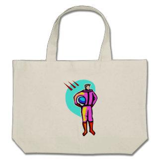 Cartoon Astronaut Canvas Bags