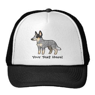 Cartoon Australian Cattle Dog / Kelpie Mesh Hats