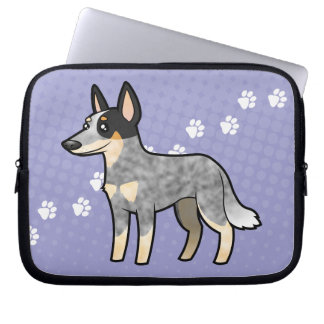 Cartoon Australian Cattle Dog / Kelpie Laptop Sleeve